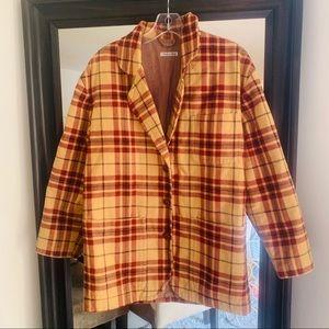 Emporio Armani vintage plaid boyfriend jacket